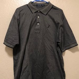 Nautical Men's Polo Gray Size XL Mercerized Cotton